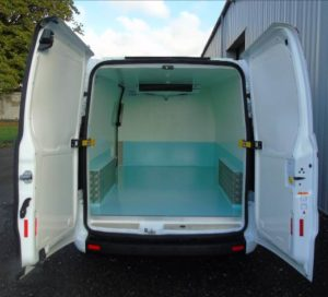 Ford Transit Custom Webasto Chilled Fridge Conversion Rear View